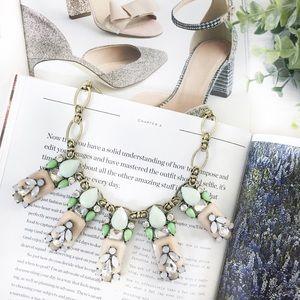 "🆑 ""Chelsea"" Necklace || Mint & Peach Jewel"